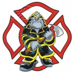 "Fire Dog 4.5""x4.5"" decal"