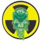 "Radio active skull 4.44""x4.44"" decal"