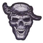 "Thug Skull patch 4""x4"""