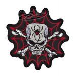 "Spider Skull patch 6.5""x6"""