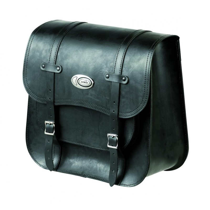 sacoche lat rale en cuir 32l chez moto customs. Black Bedroom Furniture Sets. Home Design Ideas