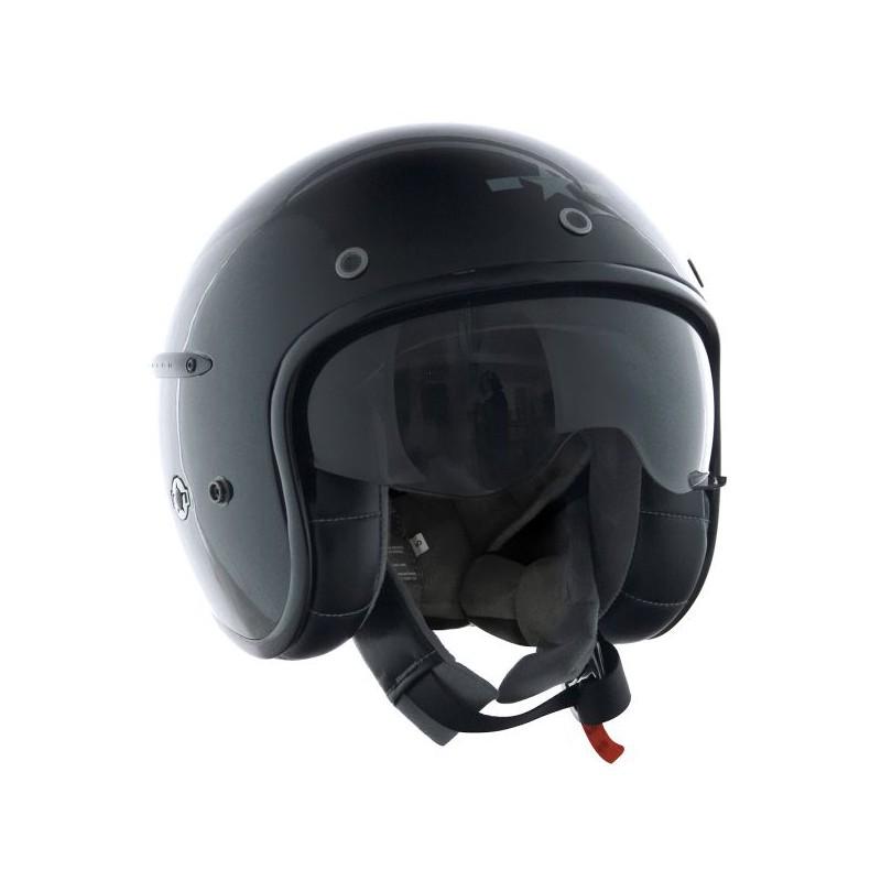 casque harisson corsair noir brillant moto customs. Black Bedroom Furniture Sets. Home Design Ideas