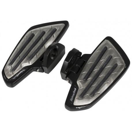 Platine repose-pieds CONDUCTEUR pour VT 750 Shadow C2 ACE Noir