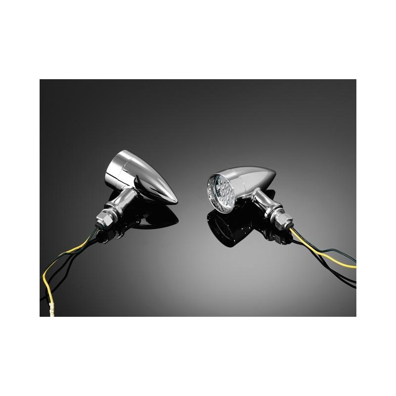 3a0d8066918f6 Clignotant LED Techno chromé Chez moto-customs