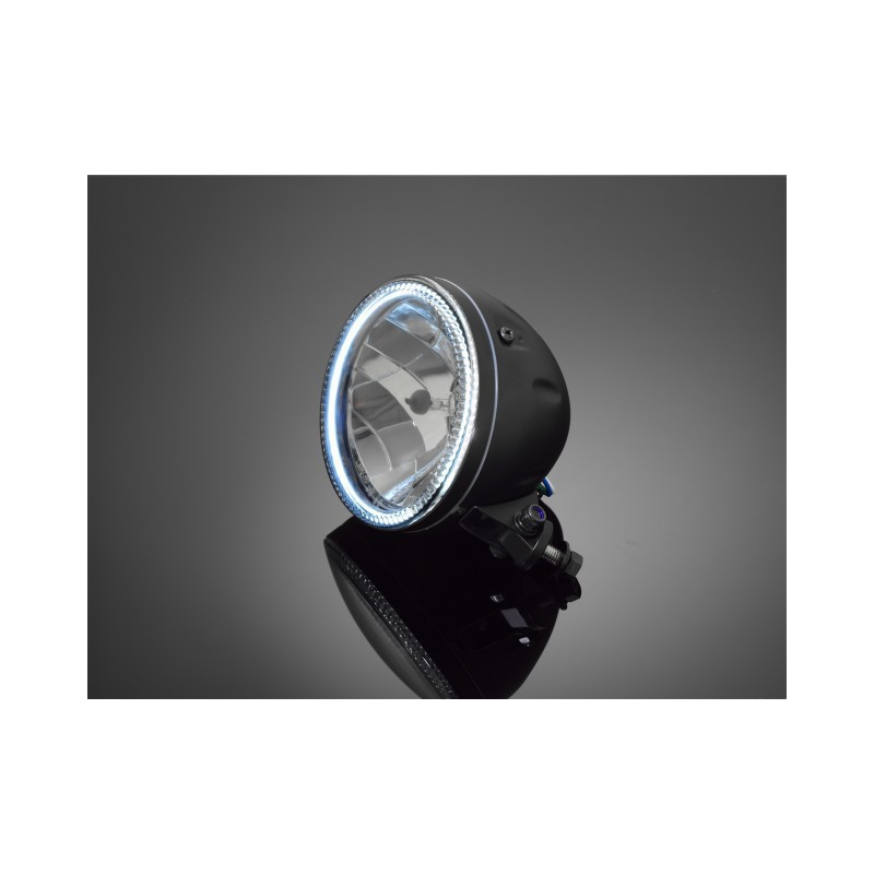 phare led ring black 145mm chez moto customs. Black Bedroom Furniture Sets. Home Design Ideas
