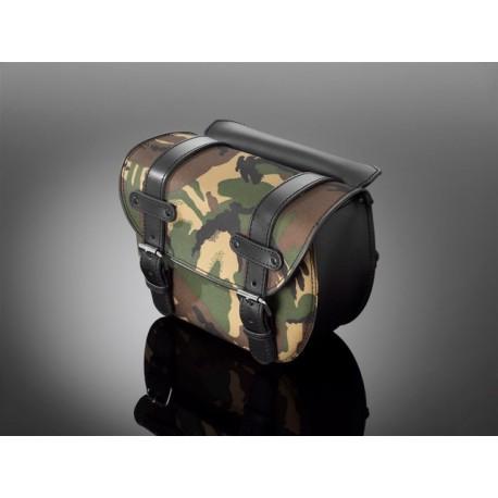 Sacoches cavalières en cuir Slim-Line camouflage