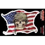 "USA SKULL - MINI DECAL 3""X4,75"""